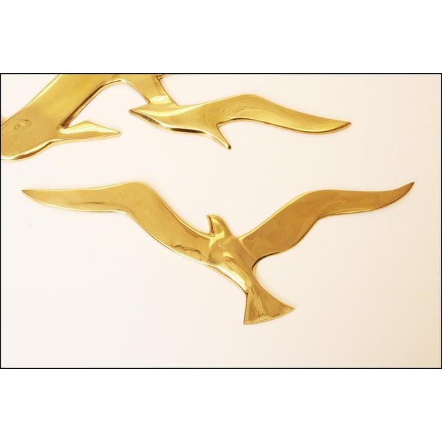 Image of Mid-Century Modern Brass Birds Wall Art