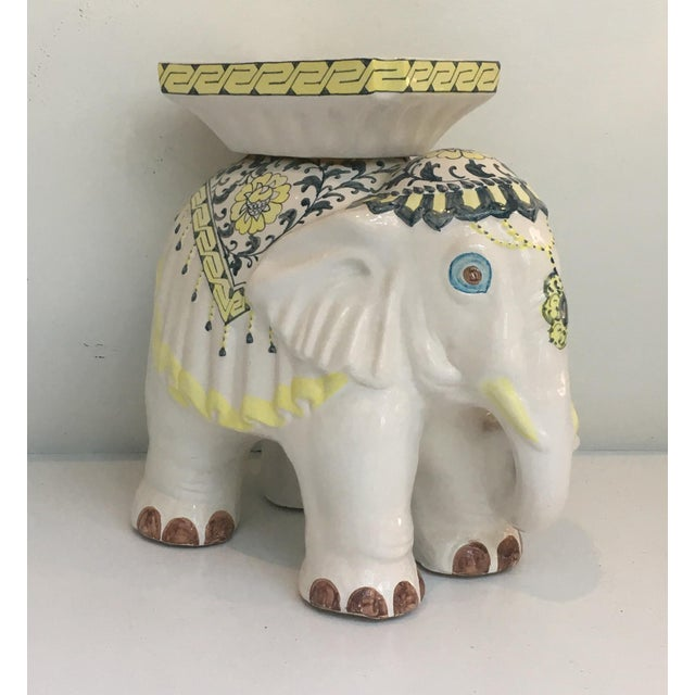 Elephant Garden Stool Side Table - Image 4 of 7