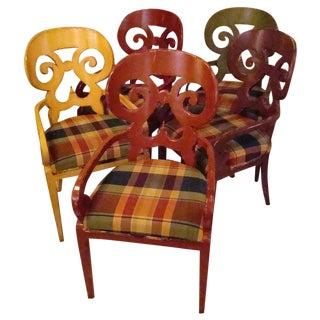 Woodland Katarina Arm Chairs - Set of 5