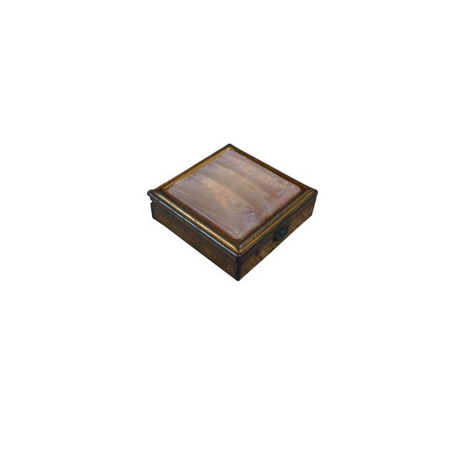 Vintage Brass & Mother of Pearl Pill Box - Image 2 of 5