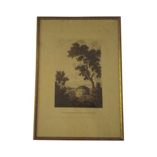 "1798 Aquatint ""Temple of Tussis"" by J. Merigot"