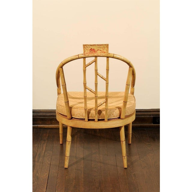 Image of Hollywood Regency Bamboo Armchair