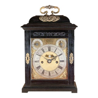 Charles II Ebony Table Clock by Thomas Tompion