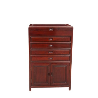Ming Style Rosewood Jewelry Armoire