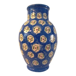 Portuguese Blue Pottery Vase
