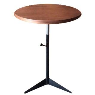 Custom Walnut Wrought Iron Side Table