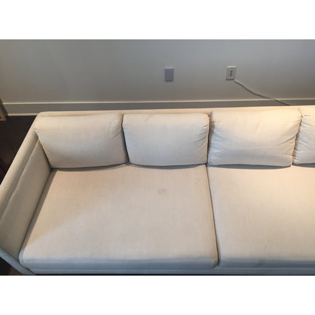 Baker Furniture Mid-Century Off-White Couch - Image 3 of 9