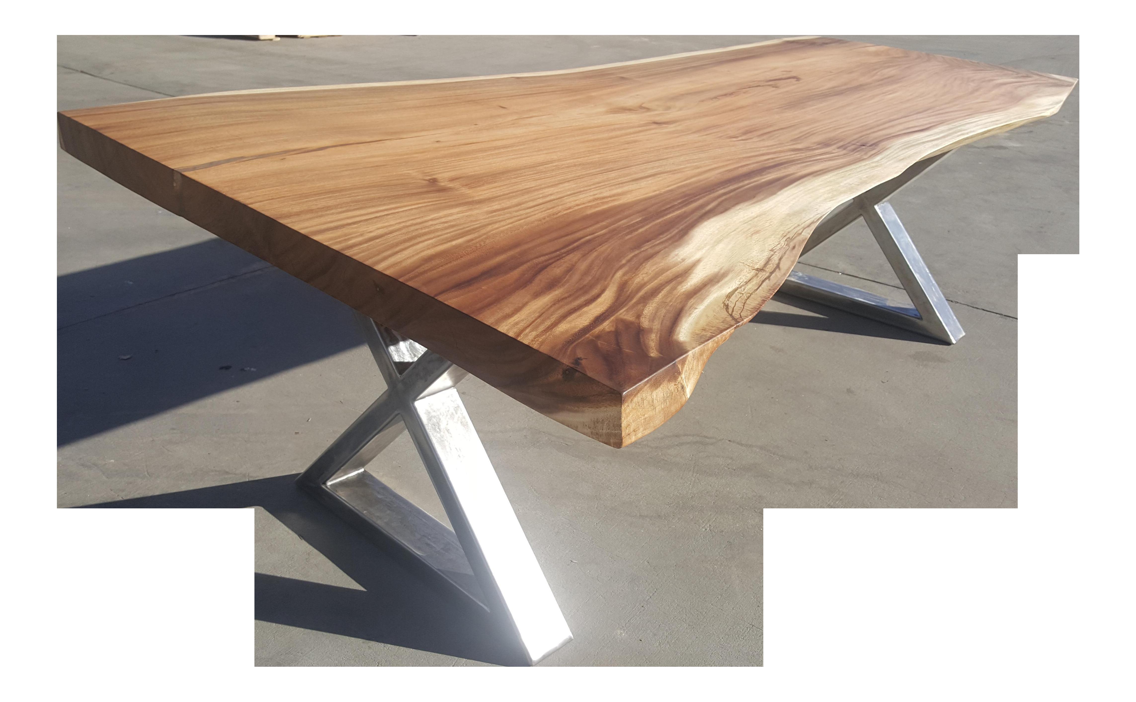Solid Slab Acacia Wood Live Edge Dining Table