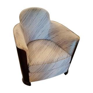 Black Art Deco Club Chair