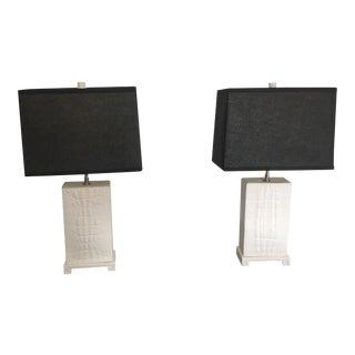 Jonathan Adler Crocodile Table Lamps - a Pair