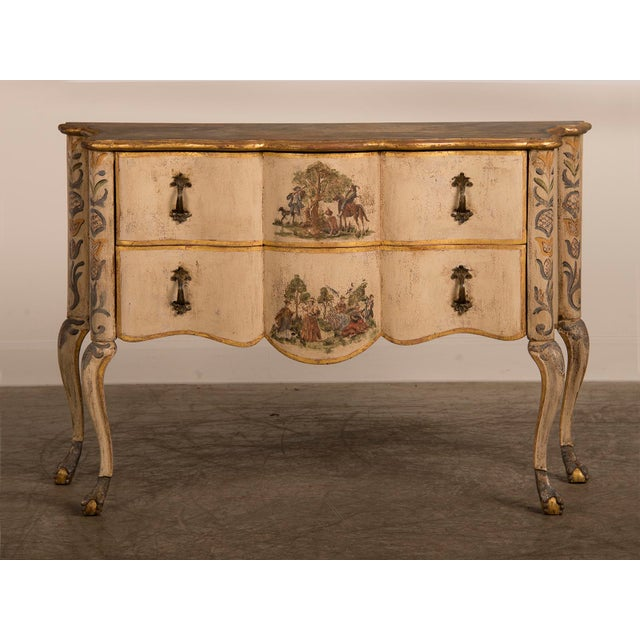 Antique Italian Baroque Painted Two Drawer Chest, circa 1750 - Image 3 of 11