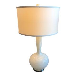 White Textured Glass Lamp