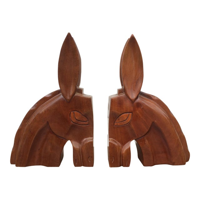 Art Deco Horse Head Bookends - A Pair - Image 1 of 6