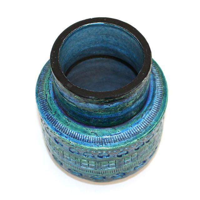 Aldo Londi for Bitossi Rimini Blue Pottery Vase - Image 2 of 5