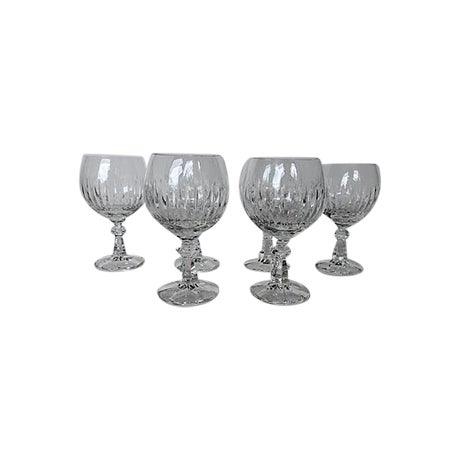 Image of Cut Crystal Short Stem Wine Glasses - Set of 6