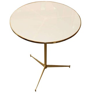 Phillipe Tripod Milk Glass Table