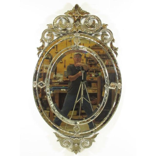 Venetian Cut Glass Wall Mirror - Image 2 of 8