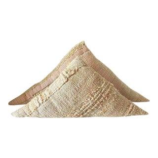 Triangular Wool Pillows - A Pair
