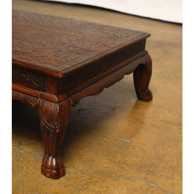 Anglo Indian Carved Low Table - Image 4 of 8