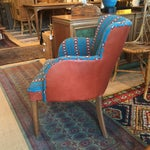 Image of Newly Upholstered Vintage Chair in Leather