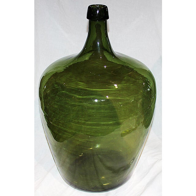 Demijohn Antique Blown Glass Bottle - Image 3 of 5