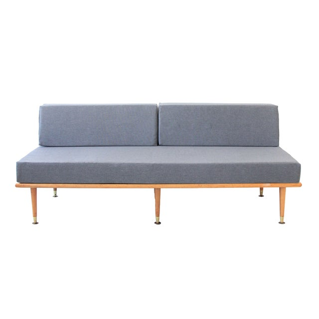 Image of Mid-Century Modern Daybed in Granite Gray