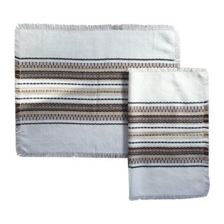 Brown & White Boho Chic Placemats - Set of 4
