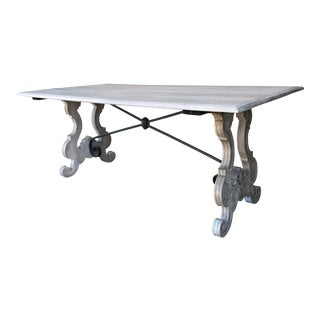 Spanish Cerused Trestle Table