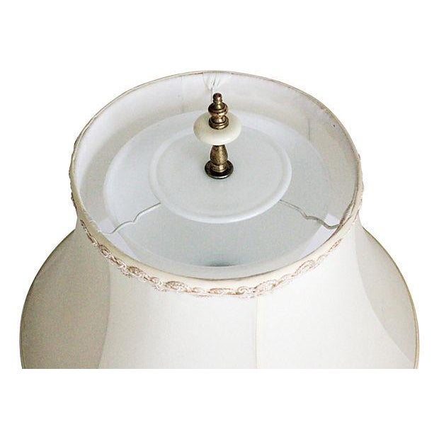 Porcelain Lamp With Custom Shade - Image 3 of 9
