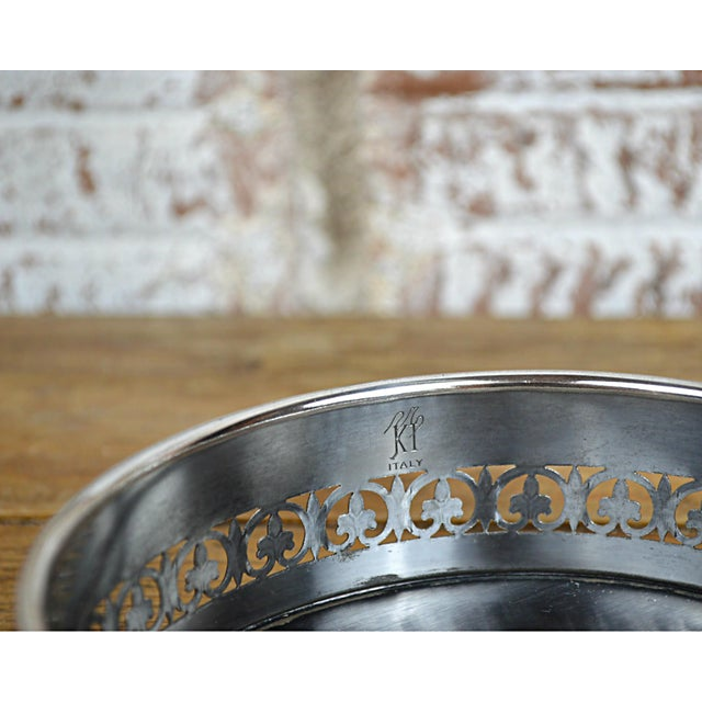 Fleur De Lys Silverplate Wine Coaster - Image 6 of 6