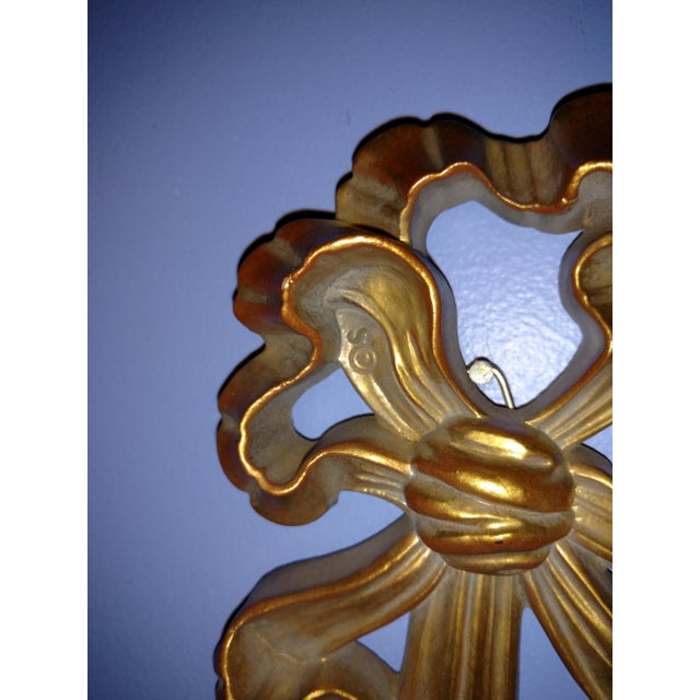Syroco Gold Tone Wall Sconce - Image 5 of 7