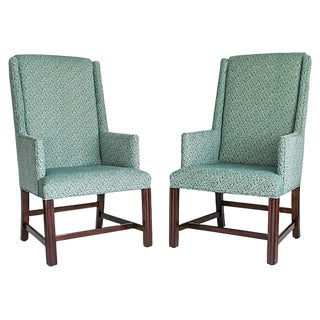 White Furniture Wingback Chairs - A Pair