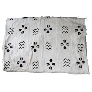 Lg Black & White Mali Mud Cloth Textile