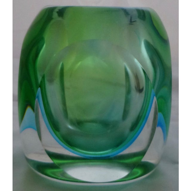 Vintage Murano Glass Sommerso Vase by Flavio Poli - Image 2 of 9