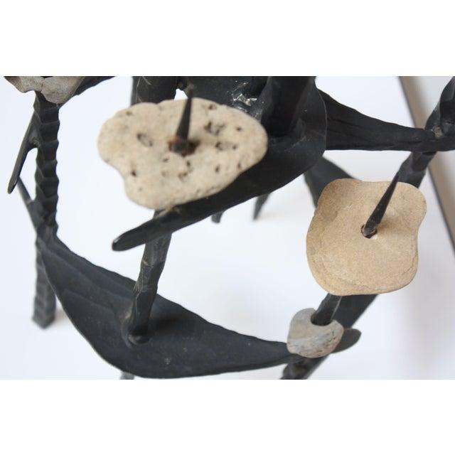 David Palombo Iron and Stone Menorah - Image 8 of 9