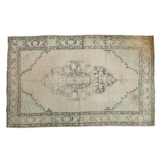 "Vintage Distressed Oushak Carpet - 6'3"" x 10'"