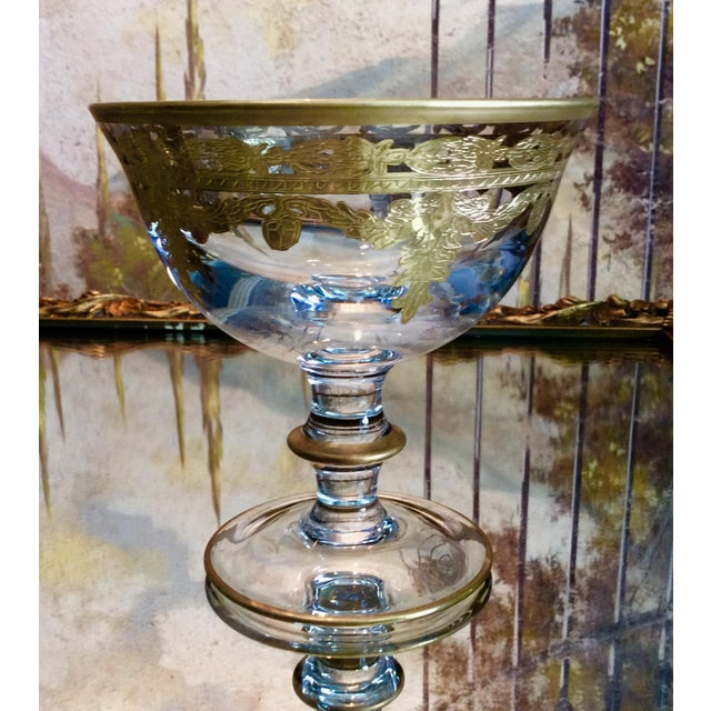 Arte Italica Vetro Gold Dessert Bowls - Set of 4 - Image 4 of 10