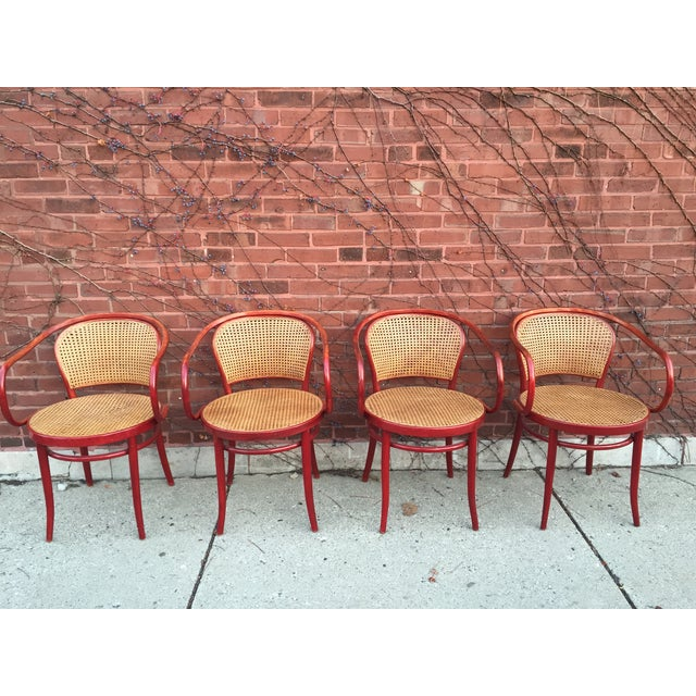 Thonet Attri. Rattan Dining Chairs - Set of 3 - Image 2 of 4