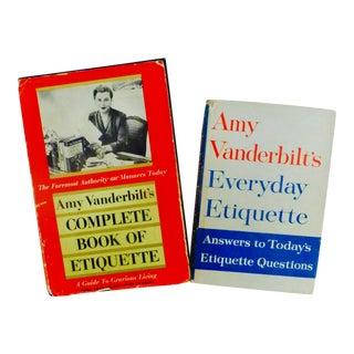 Amy Vanderbilt's Etiquette Books - A Pair