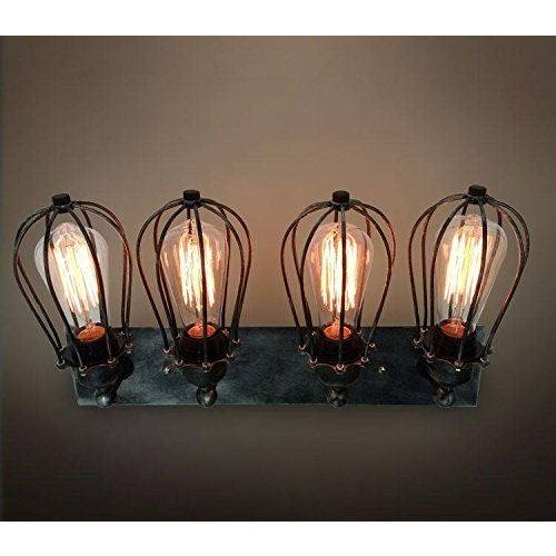 Image of Vintage Industrial Retro Iron Cage Wall Lamp
