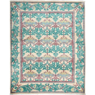 """Contemporary Arts & Crafts Hand-Knotted Rug - 7'10"""" x 9'10"""""""
