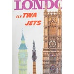 Image of 1960s TWA London Tourism Lithograph Poster