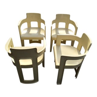 Vintage 1970's Molded Mod Chairs - Set of 4