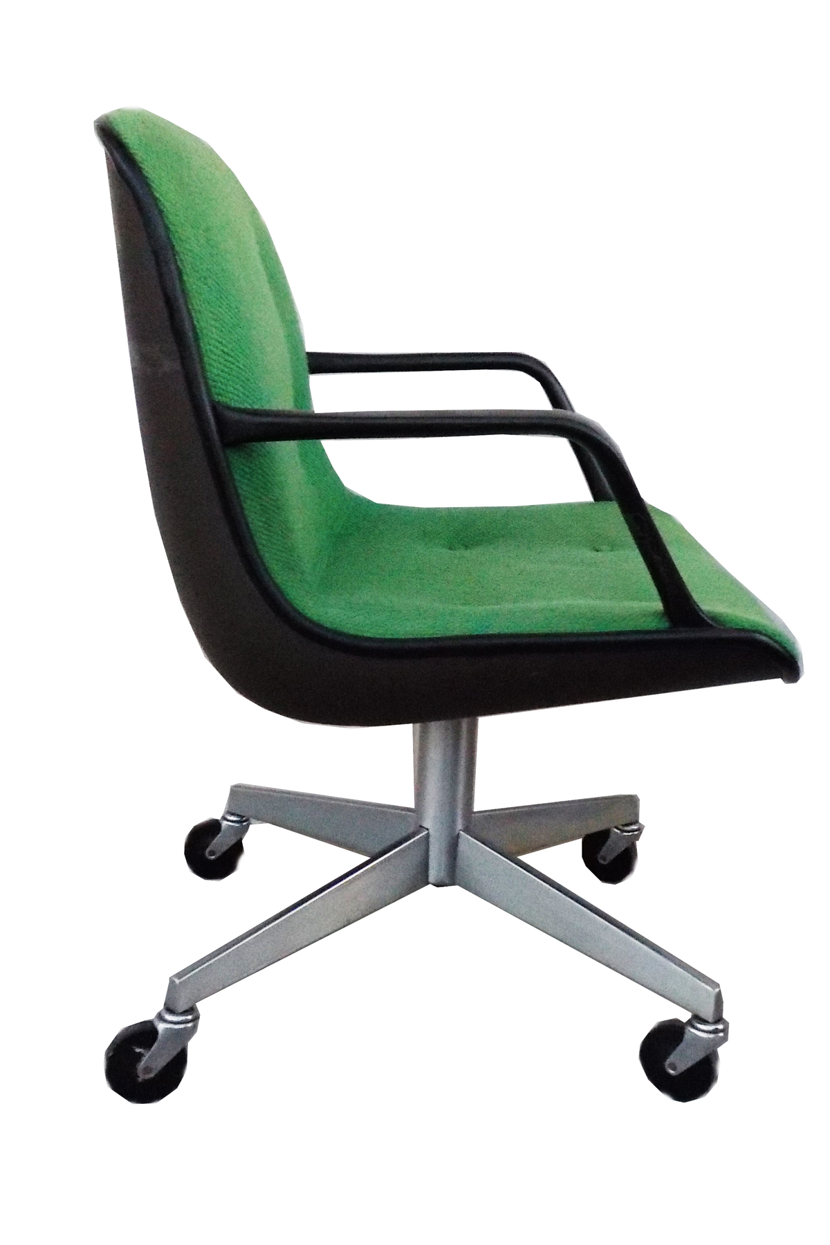 midcentury modern steelcase vintage green office chair image 4 of 6