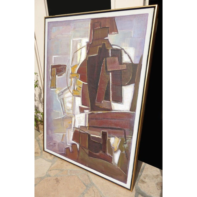 Mario De Ferrante Abstract Oil On Canvas Painting - Image 4 of 9
