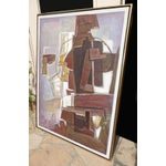 Image of Mario De Ferrante Abstract Oil On Canvas Painting
