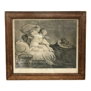 """Antique French """"La Resistance Inutile"""" Etching"""