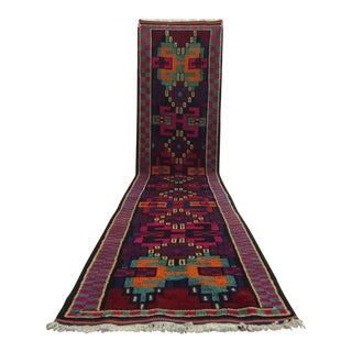 Long Runner Kurdish Hand-Knotted Runner Rug - 2′11″ × 14′5″