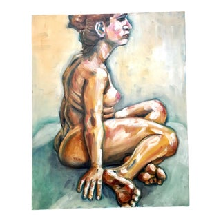 Oil Study of a Nude on Canvas