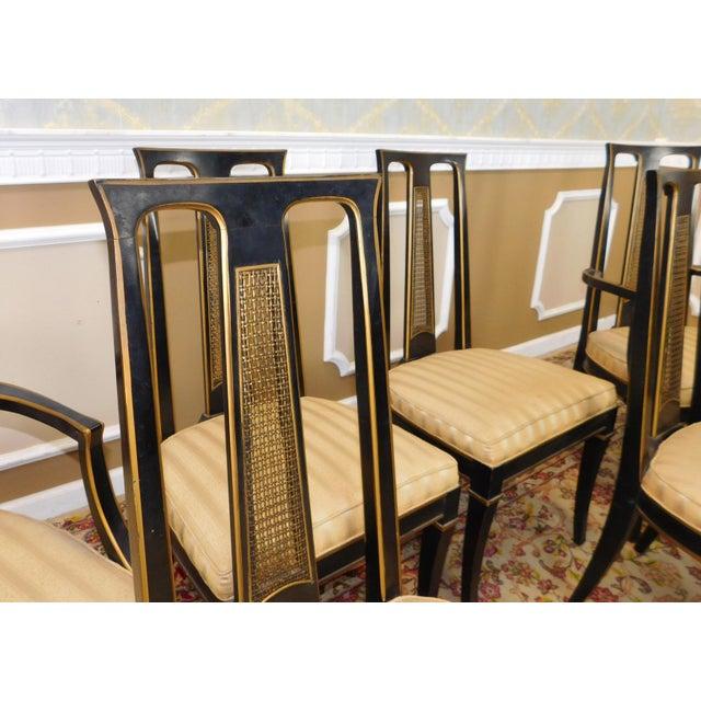 Drexel Heritage Dining Room Set: 1980s Drexel Heritage Et Cetera Asian Style Black